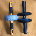 一輪ベアリング腹筋ローラーと二輪ベアリング腹筋ローラー:自宅筋トレのお供アブローラー
