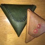 """レザークラフト:シンプルなコインケース""""三角コインケース""""をつくる"""
